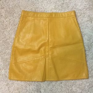 Zara Vegan Leather Mini Skirt